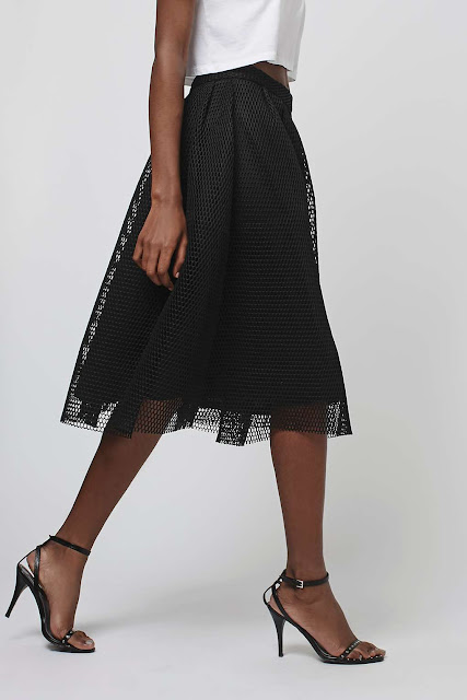 black mesh midi skirt, black airtex skirt, airtex skirt,