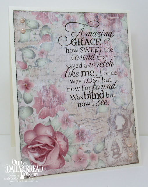 ODBD How Sweet The Sound, ODBD Romantic Roses Paper Collection, Card Designer Angie Crockett