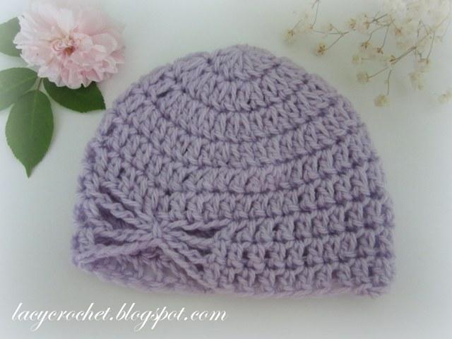 Free Crochet Butterfly Patterns For Hats : Lacy Crochet: Butterfly Baby Hat