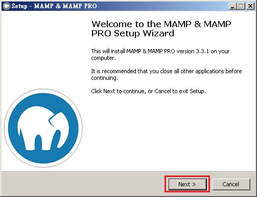MAMP Free 3.3.1 & MAMP PRO 3.3.1 是同一個安裝程式,會一起安裝。安裝很容易,需要的 .NET 4.0 也會自動幫你安裝。