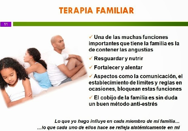 Educar desde la familia: Terapia familiar