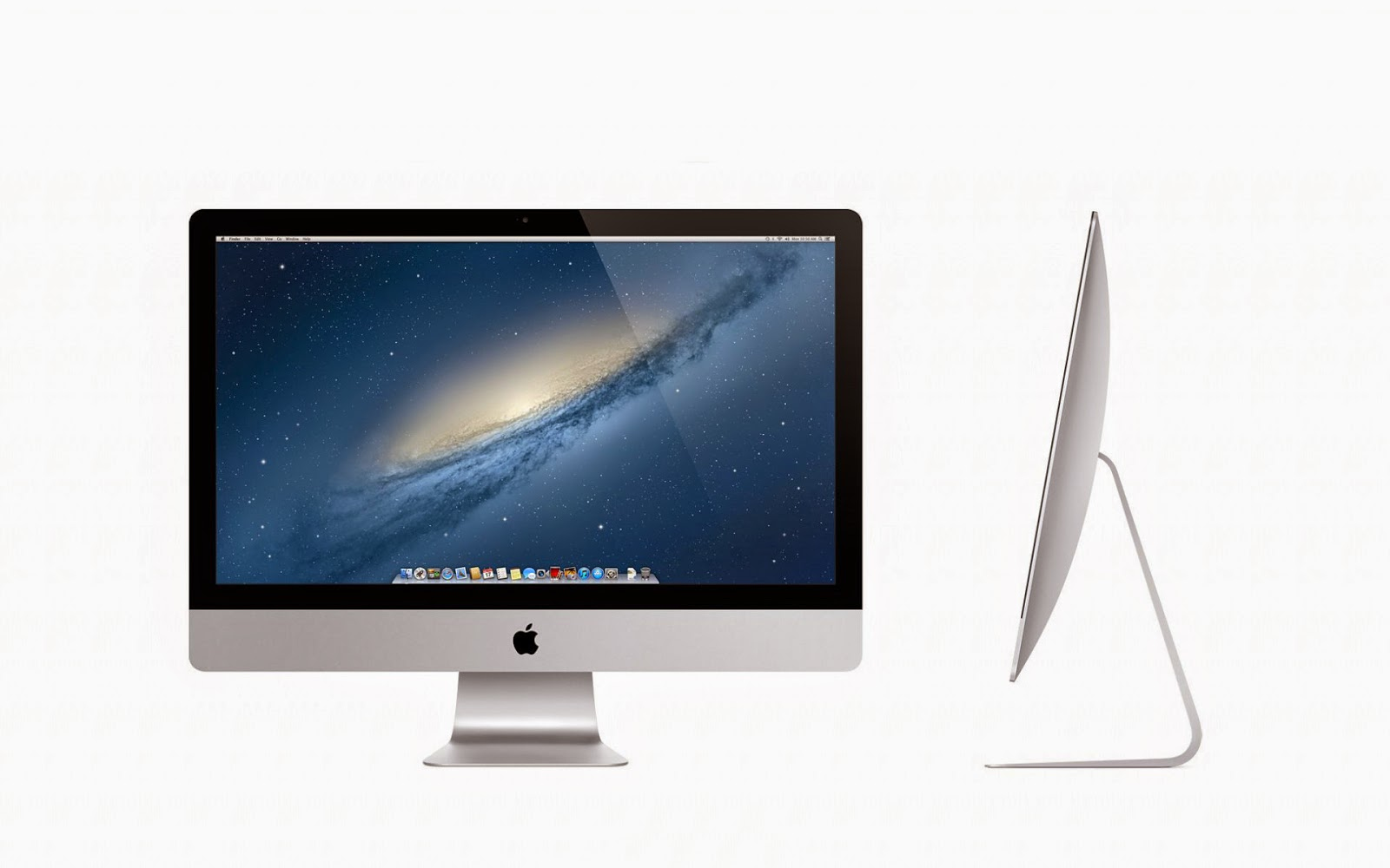 Apple wallpaper met een iMac 27 inch scherm