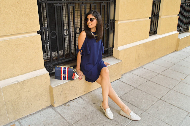 Gamiss Blue Dress styling