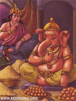 Kubera and Lord Ganapati
