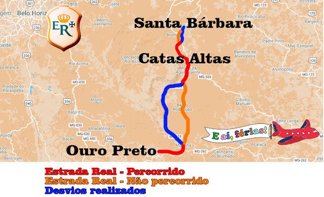 Estrada Real entre Ouro Preto e Santa Bárbara