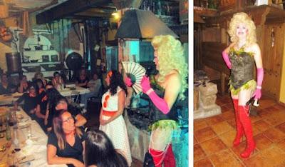 Espectáculo drag queen Gabrielle. Despedida en Arenas de San Pedro. Avila.