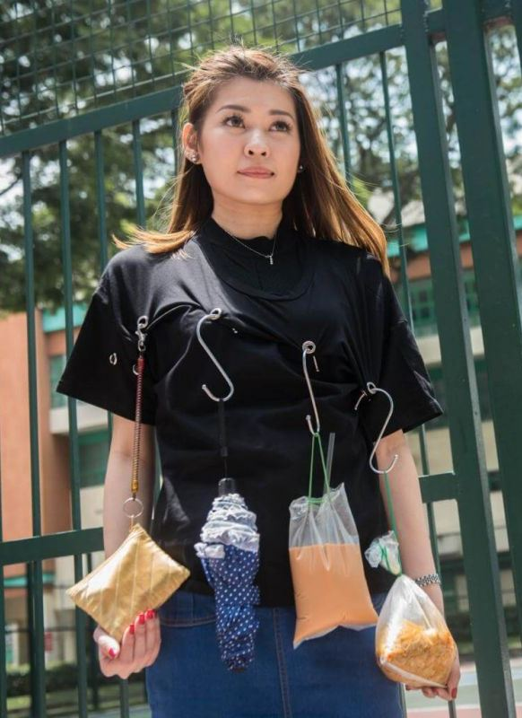 It started on Sept 21 when someone posted a video of you promoting a top with metal rings as sort of a wearable rack where you can use S-hooks to hang umbrellas, ez-link cards, wanton mee