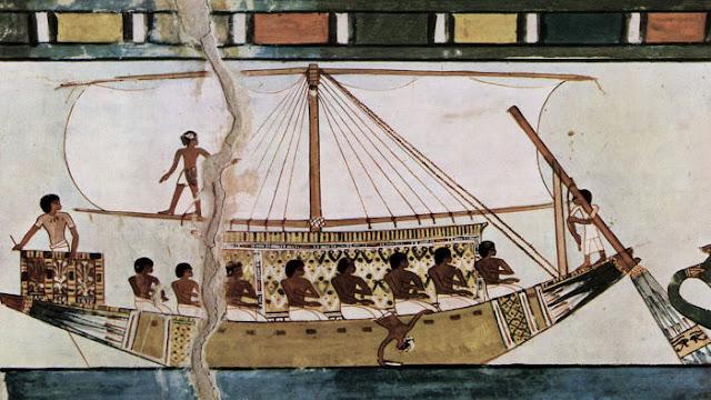 misteri huruf alif dan ba, perahu mesir