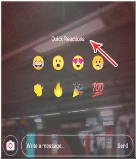 Fitur Quick Reactions Instagram