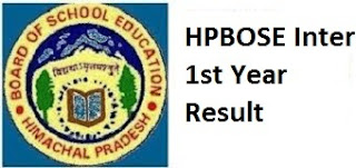 HPBOSE Inter 1st Year Result 2017