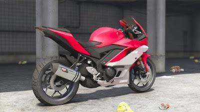 Download do mod da moto Yamaha YZF-R25/R3 2019 para o jogo GTA 5 PC, Baixe esse mod de graça !