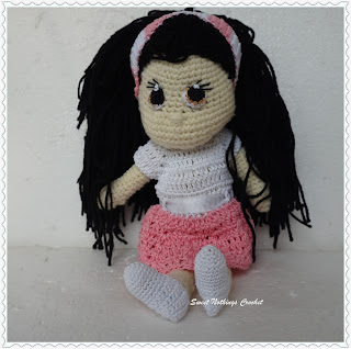 free crochet doll pattern, free crochet candy doll pattern, free crochet amigurumi pattern, free crochet toy pattern