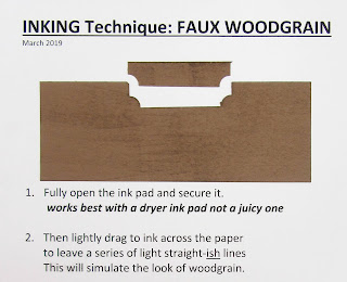 the Faux Wood Grain technique