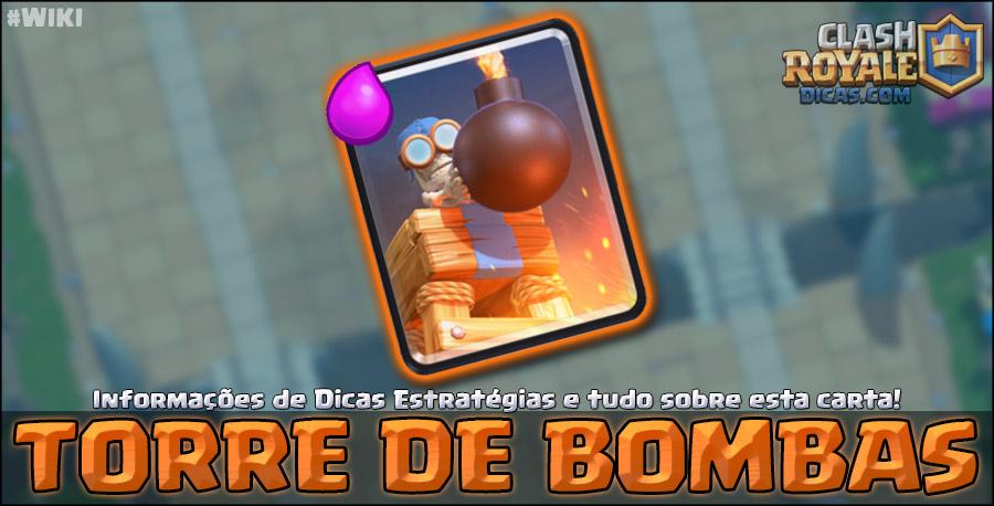 Carta da Torre de Bombas em Clash Royale