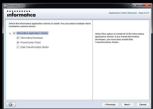 Informatica 9.6.1 client Installation Step by Step