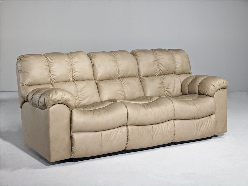 Recliner couch double recliner couch for Double leather sofa