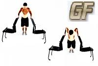 cara melatih otot dada dips