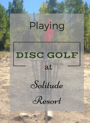 Playing Disc Golf at Solitude Mountain Resort