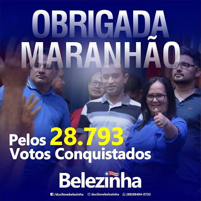 Belezinha agradece pelos 28.793 votos conquistados!