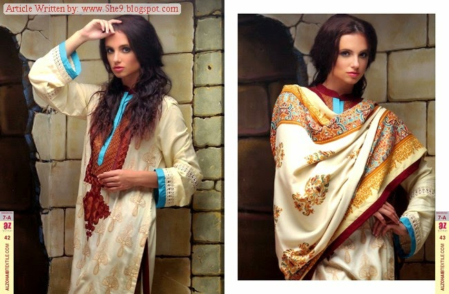 Shawl Collection 2014-2015 By Al-Zohaib