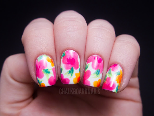 China Glaze Summer Neons Nail Art: Hawaiian Floral ...