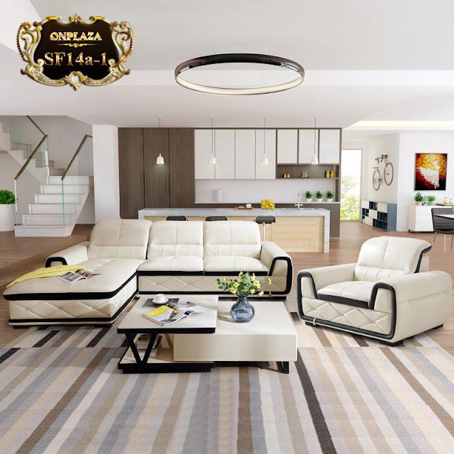 Sofa bọc da phòng khách hiện đại SF14Aa-1 băng góc phải ;giá:25.184.000 vnđ