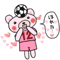 Soccer sticker for a girl