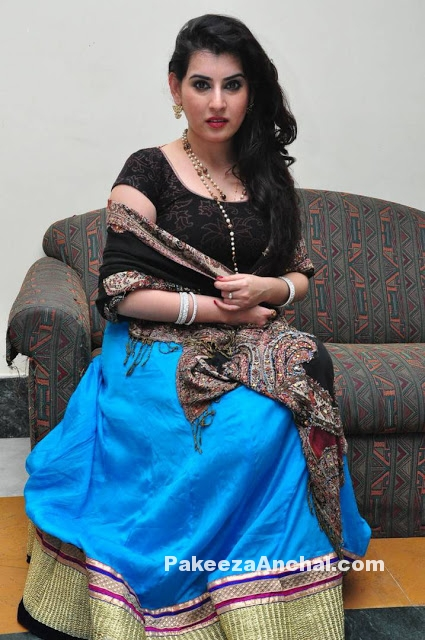 Archana Veda in Blue Georgette Lehenga Choli