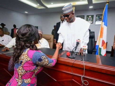 mercy johnson swearing in ceremony