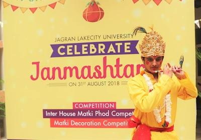 Krishna Janmashtami Celebration at Jagran Lakecity University!