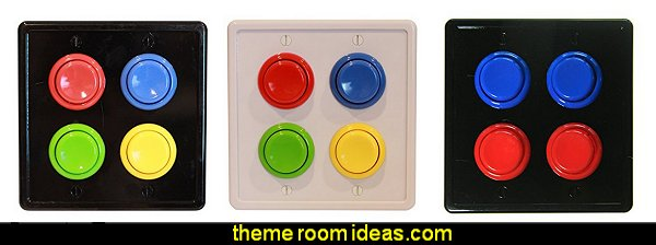 Arcade Light Switch Plate Cover  Gamer bedroom - Video game room decor - gamer bedroom furniture - gamer wall decal stickers - Super Mario Brothers Wall Stickers - gamer bedding - Super Mario Brothers bedding - Pacman decor -  Arcade bedrooms -