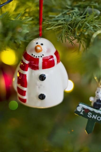 новогодние игрушки, снеговик на ёлку