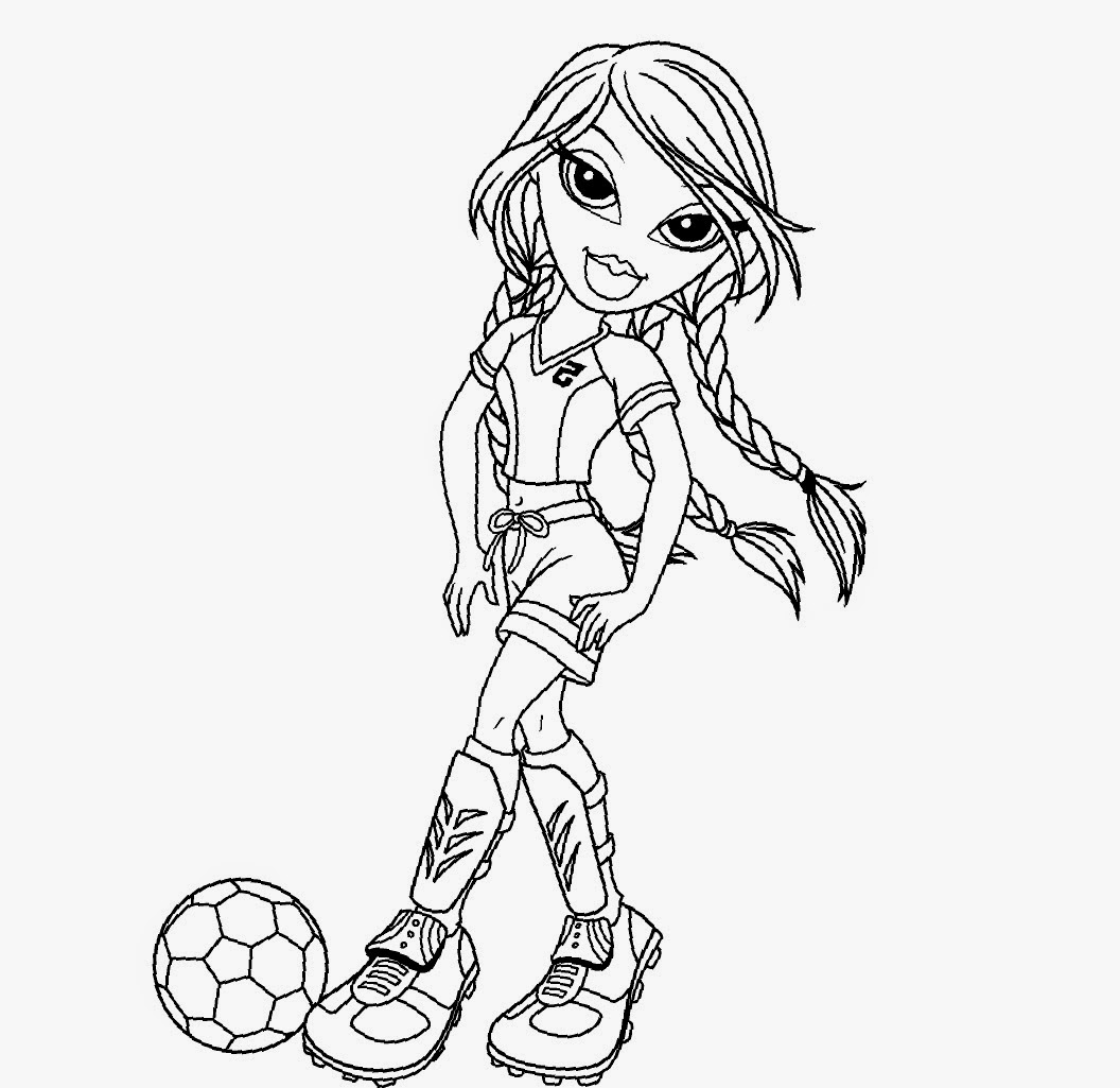 Colour Drawing Free Wallpaper: Bratz Coloring Drawing Free