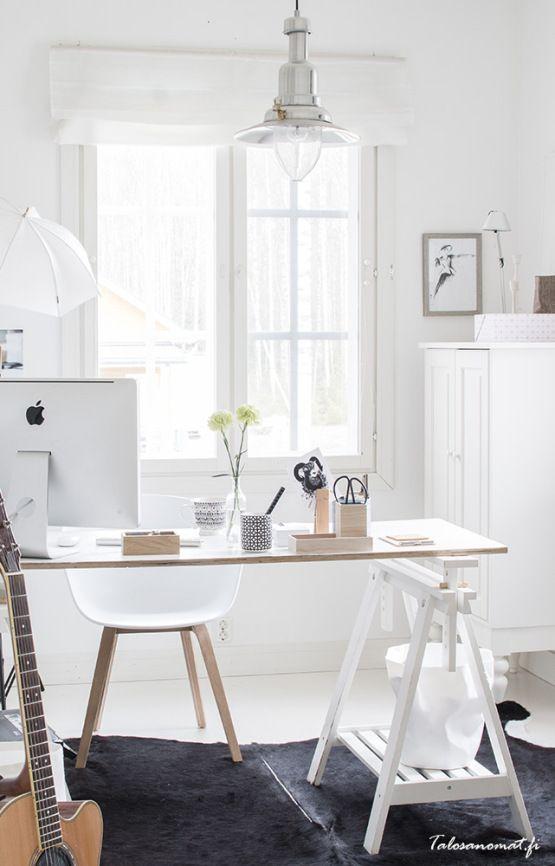 Una oficina nórdica en tu hogar