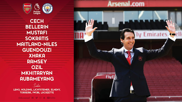 Starting Line-up: Arsenal vs Man City (Live stream)