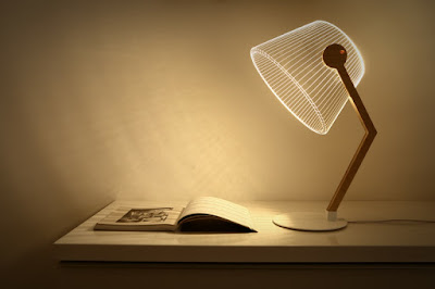 LED 3D lampshades for tab;es