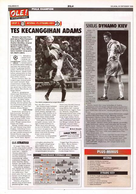 CHAMPIONS LEAGUE 1998 ARSENAL VS DYNAMO KIEV
