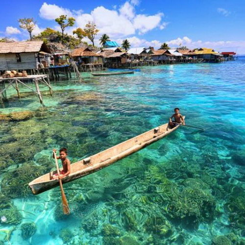 Tinuku Travel Togean Islands National Park line Tomini bay perfect diving and snorkeling in coral triangle Central Sulawesi