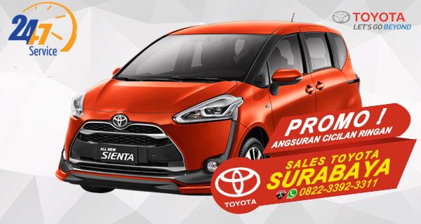 Promo Angsuran Cicilan Ringan Toyota Sienta Surabaya