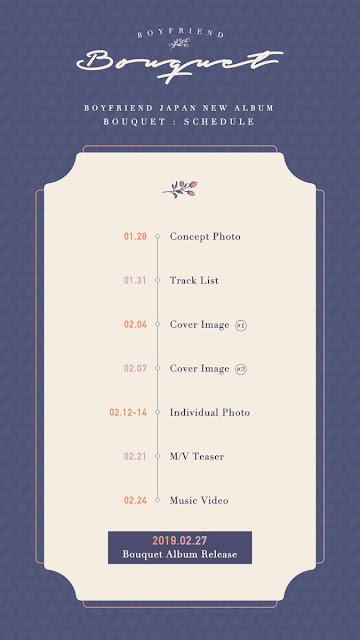 boyfriend japon comeback bouquet album schedule