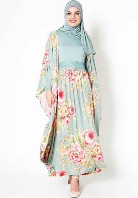 Model Baju Batik Kombinasi Sifon untuk pesta
