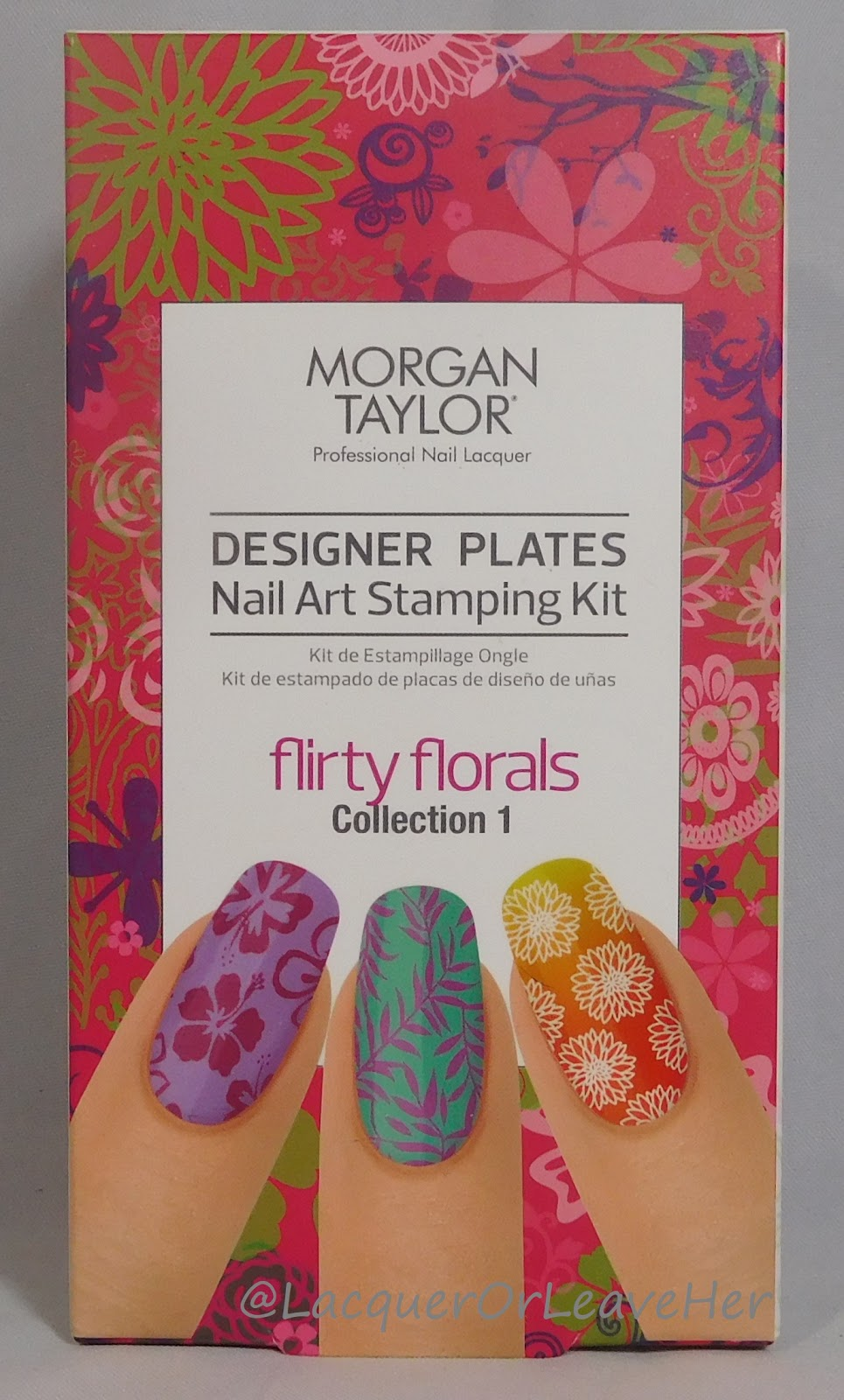 Lacquer or leave her morgan taylor flirty florals stamping kit morgan taylors flirty florals stamping kit prinsesfo Image collections