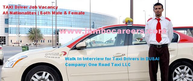 Taxi Driver Jobs in Dubai | taxi driver job vacancy for Indians in Dubai.