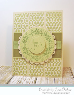 Thank You card-designed by Lori Tecler/Inking Aloud-stamps from Verve Stamps
