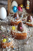 Huevos de chocolate rellenos de mousse de nutella - Mona de Pascua VI