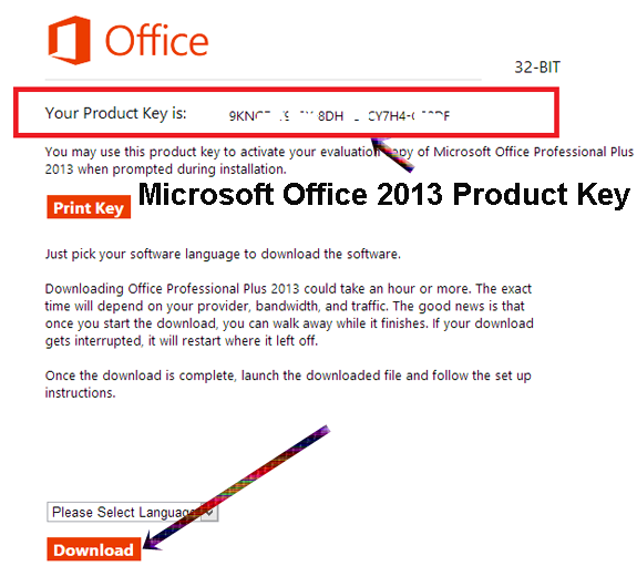 ms office 2013 pro plus key