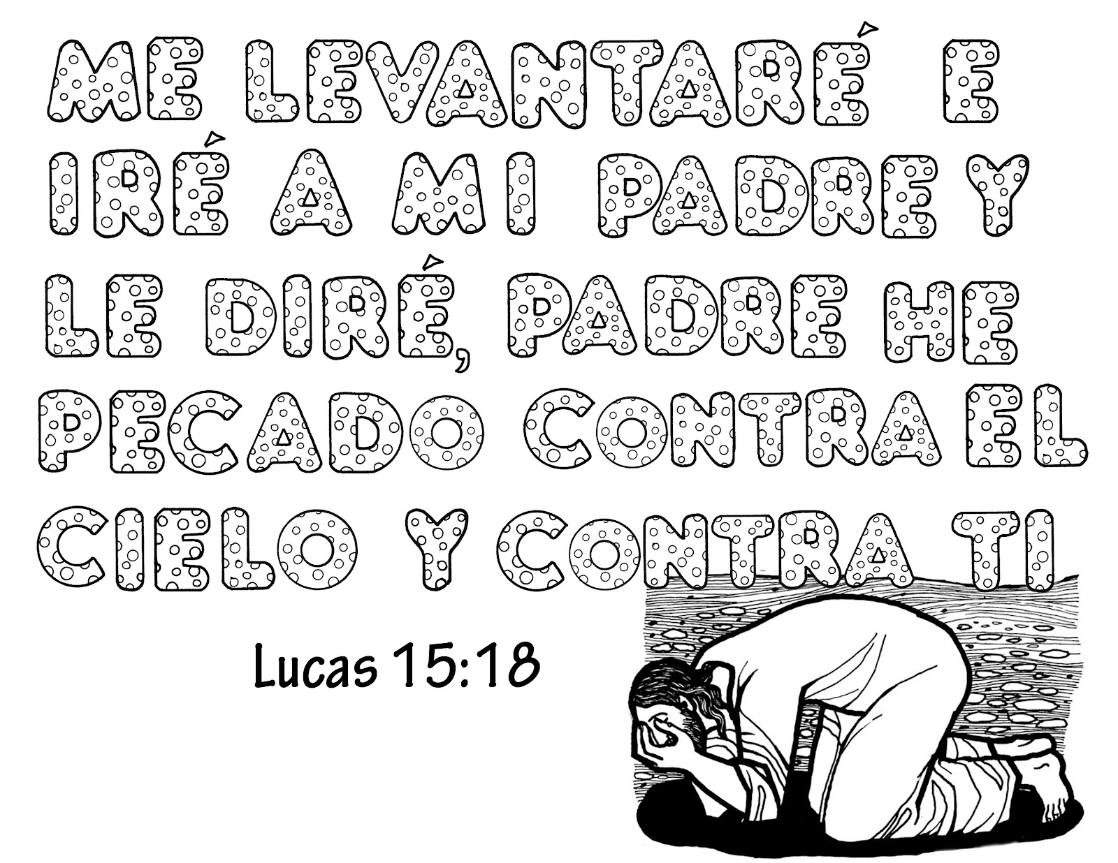Dibujo De La Palabra Otoño Para Colorear Con Los Niños: TEXTOS BIBLICOS PARA COLOREAR CON DIBUJO