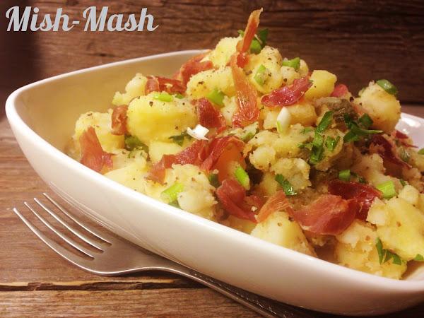 Картофена салата с хрупкаво прошуто