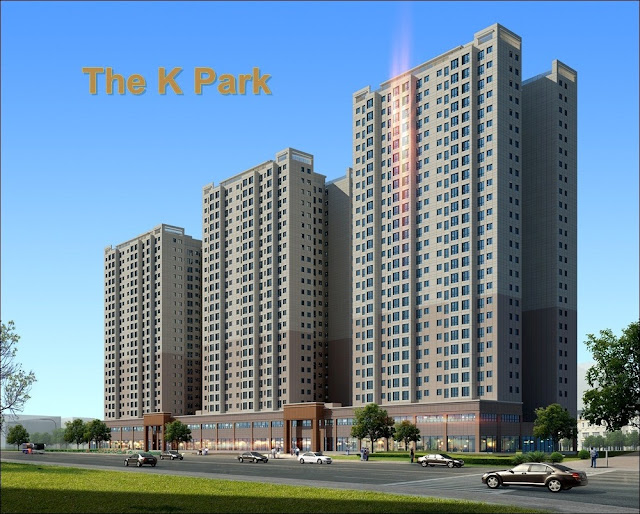 Không gian xanh tại chung cư The K-Park