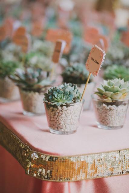 miniaturowe sukulenty, małe kaktusy, zaproszenia w stylu rustykalnym